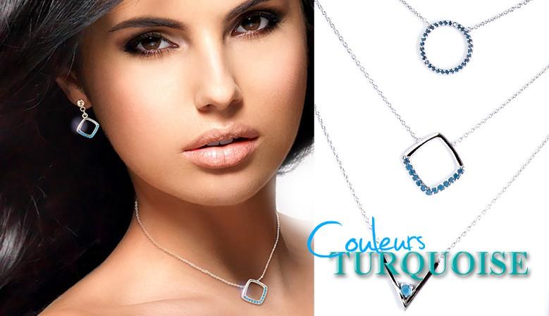 Collection Turquoise Argent 925‰ et plaqué Or
